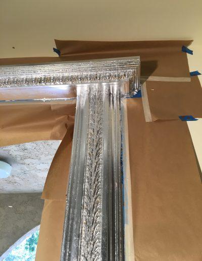 Aluminum Leaf Application Door Frame