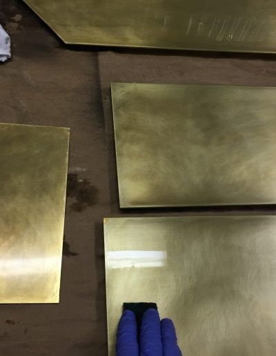 Antique Brass Finish Application