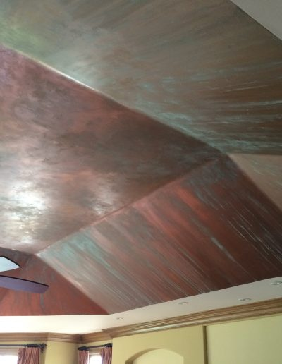 Copper Patina Applied to Ceiling