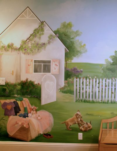 Detail of childrens' playroom mural