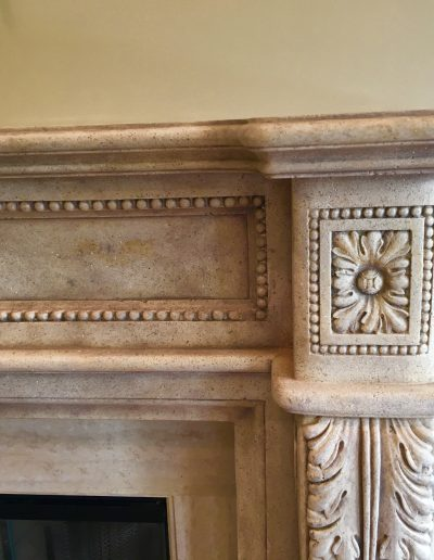 Faux Stone on Fireplace