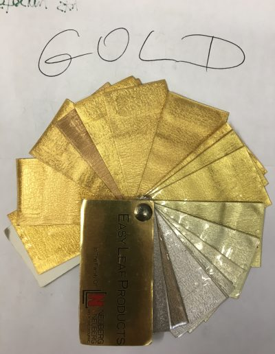 Gold and Silver Leaf Samples