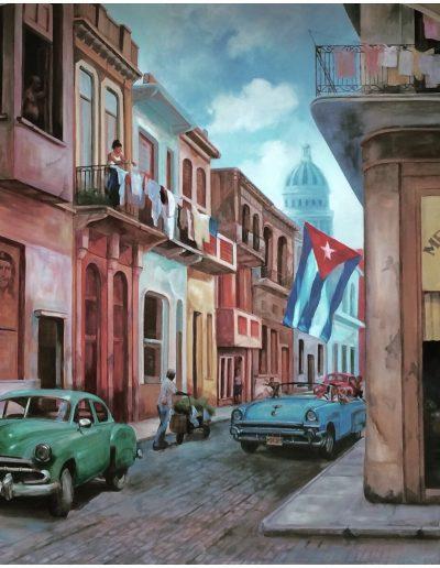 Havana mural: detail
