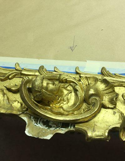 Mirror Frame Restoration Before 3