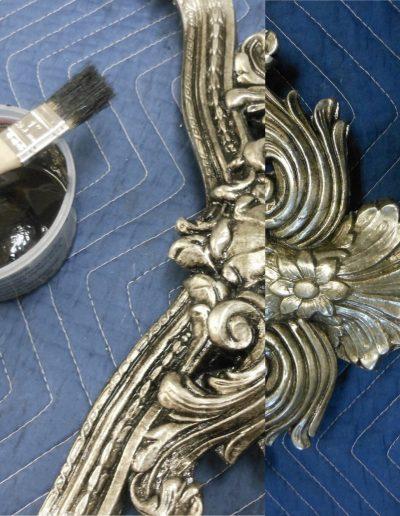 Silver Leaf Antique Glaze Application