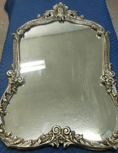 Silver Leaf Mirrtor Frame