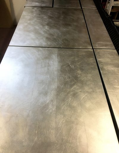 Silver Leaf applied to cabinetry