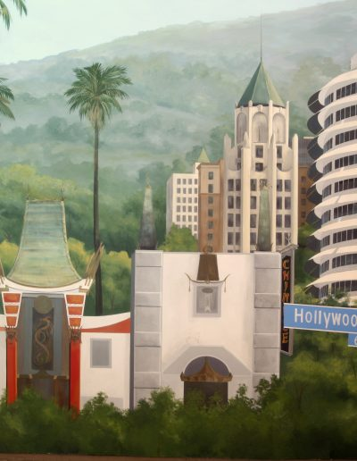 Detail of Hollywood mural