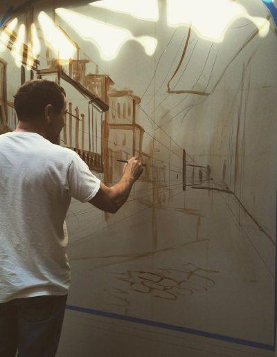 Starting a Cuba mural