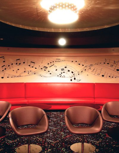 Musical notes mural
