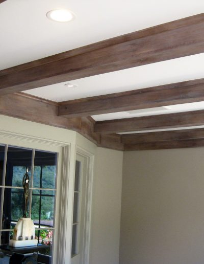 Distressed stained beams