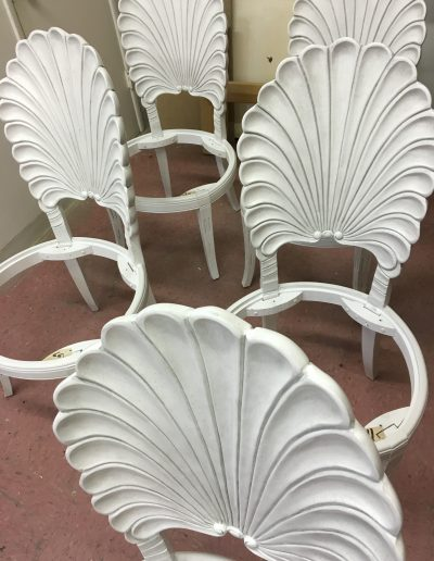 Glazing / antiquing painted chairs