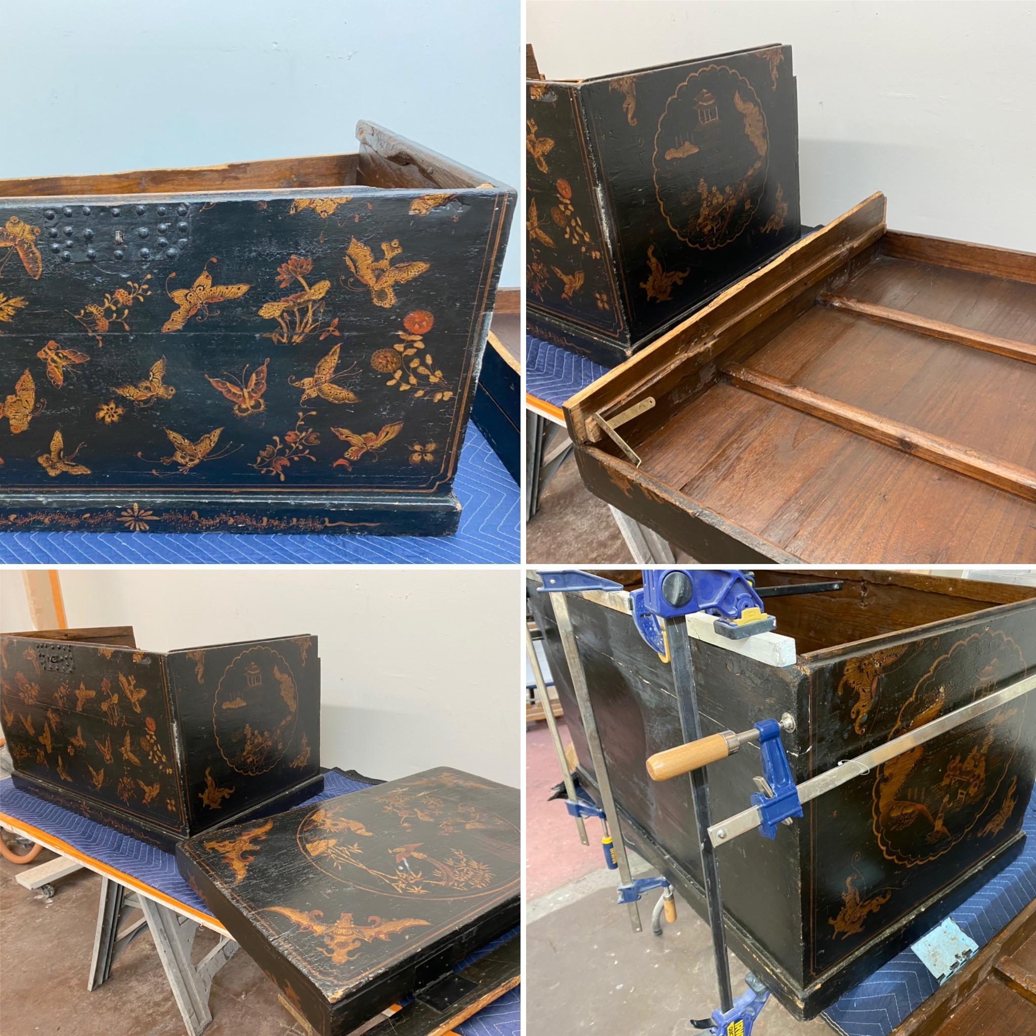 Gladkov Studios Antique chest restoration Furniture repair