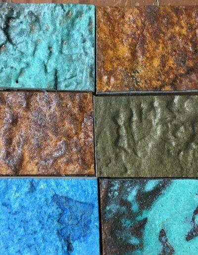 Gladkov Studios Textural Metal Patina Copper Patina Bronze Patina Blue Patina Chemical Patina